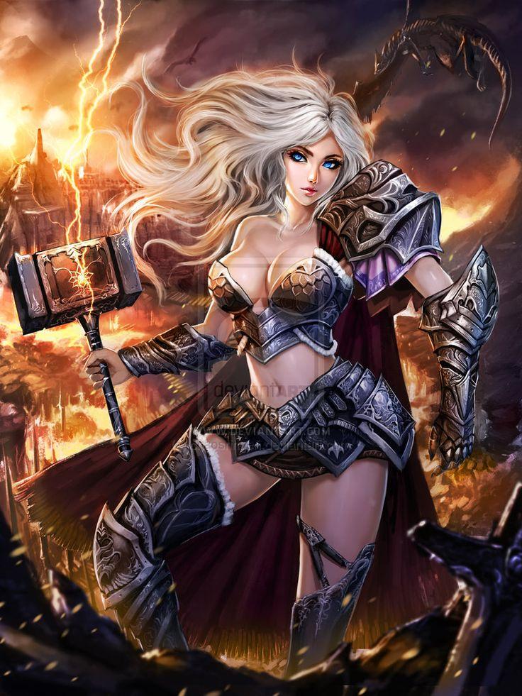 17 best images about warrior wenches on pinterest - Fantasy female warrior artwork ...