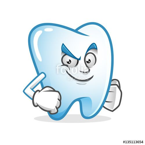 """Download the royalty-free vector """"Confident tooth mascot, tooth character, tooth cartoon vector """" designed by IronVector at the lowest price on Fotolia.com. Browse our cheap image bank online to find the perfect stock vector for your marketing projects!"""