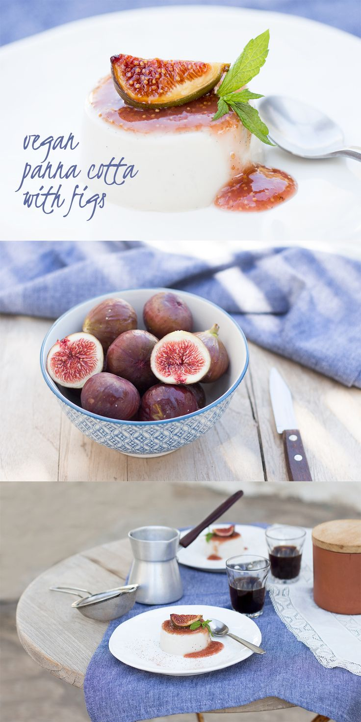 Vegan panna cotta with figs is a delicious dessert that will certainly impress your guests. Make it at any time of the year by replacing figs with seasonal fruit.