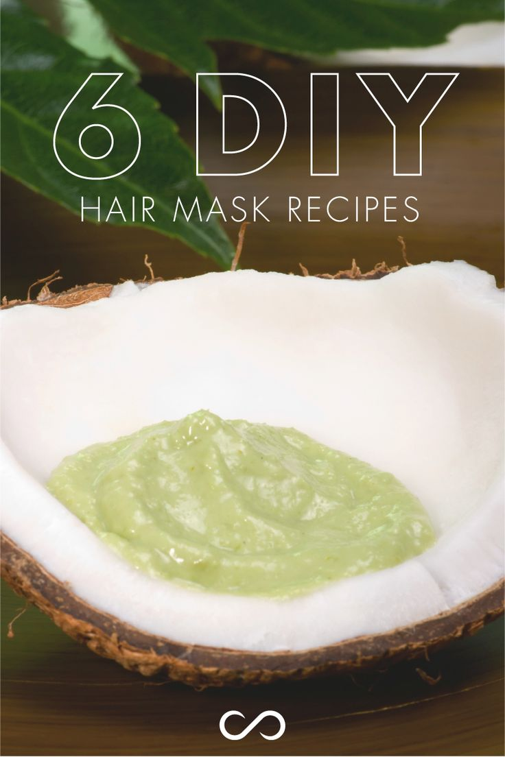 6 DIY Hair Mask Recipes You Can Make At Home for oily, damaged, color treated hair and more! LEARN MORE at http://hairfinity.com/blog/diy-hair-mask/  #diyhairmasks #diyhairmask #hairmask