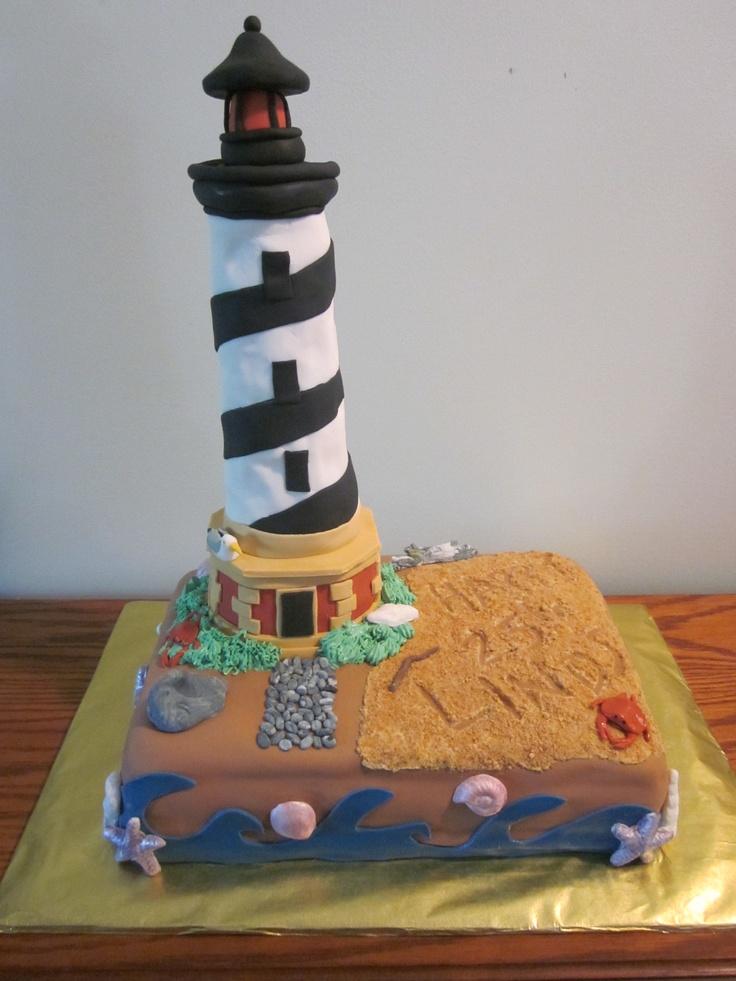 Lighthouse Cake Custom Cakes Pinterest Lighthouses