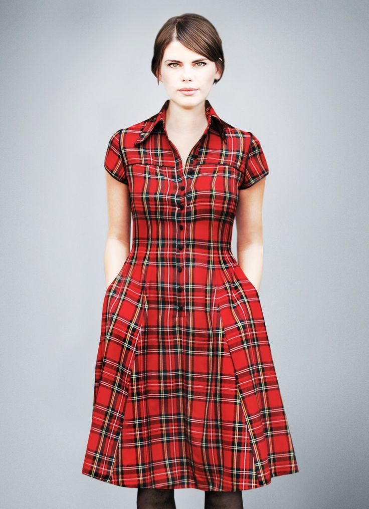 V.I.C.K.Y tartan shirt dress by Femkit on Etsy https://www.etsy.com/listing/205259705/vicky-tartan-shirt-dress