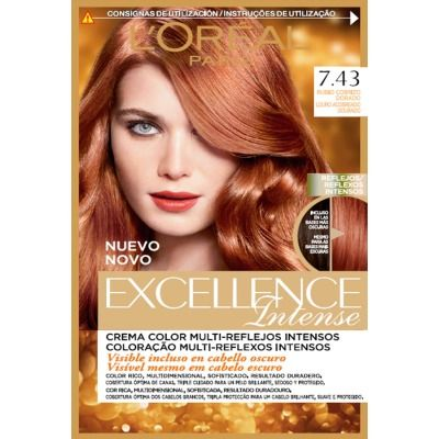 excellence tinte capilar intense nº 7,43 rubio cobrizo dorado                                                                                                                                                                                 More