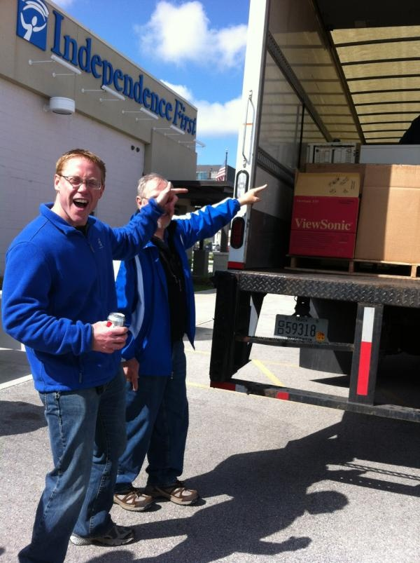 Truckload donations at Electronics Recycling Drive TODAY April 21, 2012 10am -2pm supporting our Computer Recycling Program - 540 S. 1st St. in Milwaukee 53204 - c'mon down!