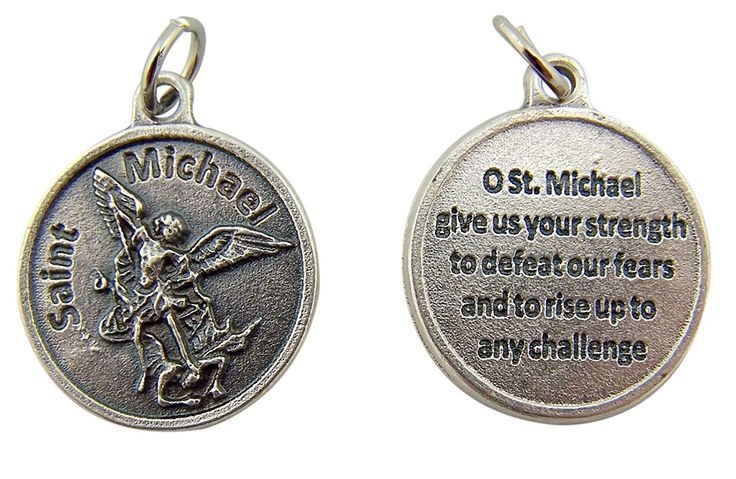 Archangel Saint St Michael with Prayer Protection Medal Pendant, 3/4 Inch >>> Read more at the image link.