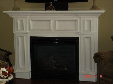 White Fireplace · KaminverkleidungElektrischer Kamin Mit KaminsimsKaminsimsKaminbauElektrische  ...