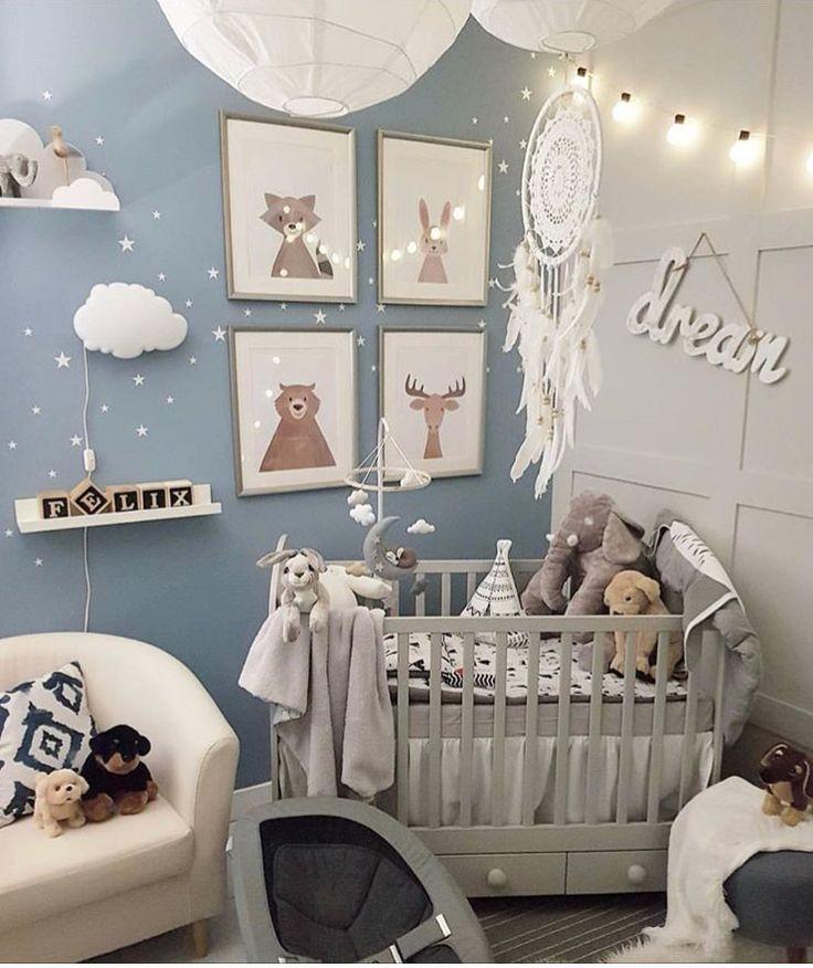 Blau ist die perfekte Farbe für Kinderzimmer, auch für Mädchen! Klicken … … – babyzimmer – #auch #Babyzimmer #blau #die #Farbe