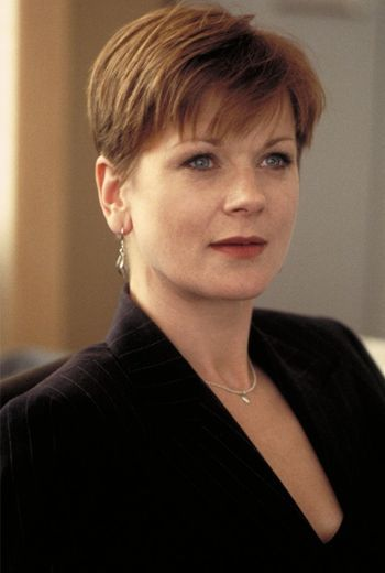 Samantha Bond: Played Eve Moneypenny in 4 James Bond films. GoldenEye (1995), Tomorrow Never Dies (1997), The World Is Not Enough (1999), and Die Another Day (2002).