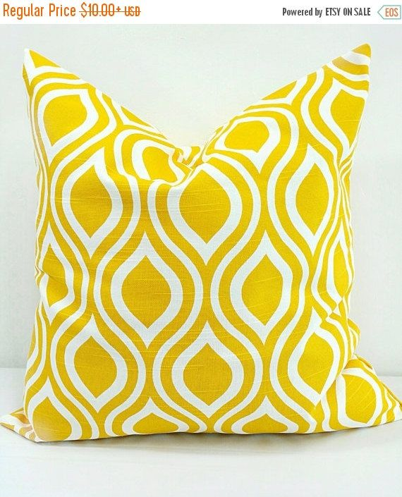PILLOW SALE. Yellow Pillow cover.Nicole  by TwistedBobbinDesigns