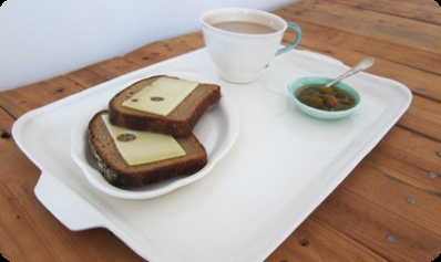 A beautiful handmade breakfast in bed set. The perfect way to wake-up