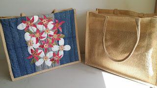Quilten en borduren op de borduurmachine: Bloemen tas