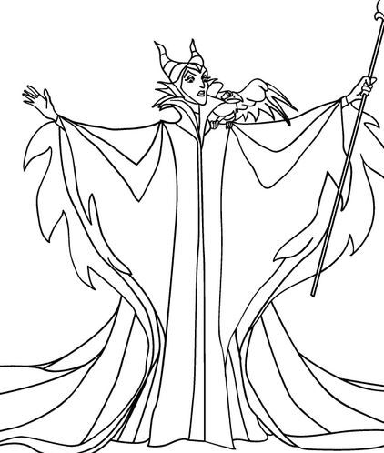 Download Maleficent coloring pages Color Halloween