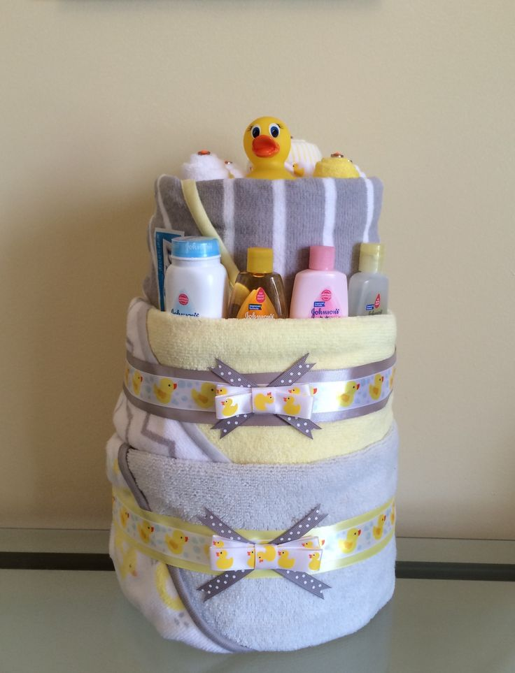 Baby Duck Bath Towel Diaper Cake