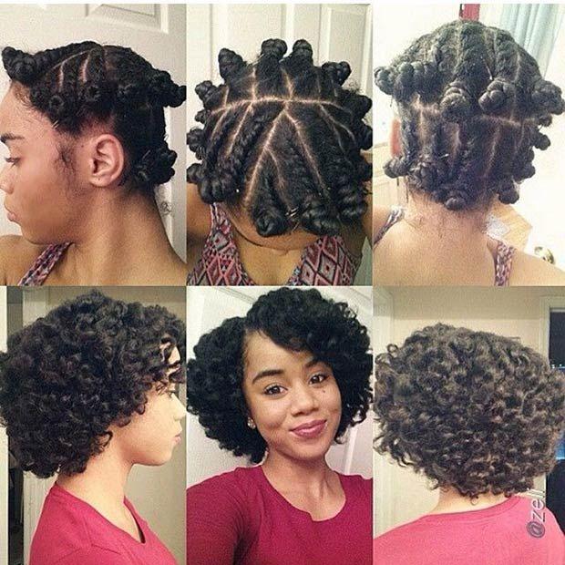38 Stunning Ways To Wear Bantu Knots Short Natural Hair