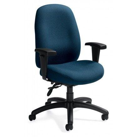 Global Granada Deluxe 1171-5 - Medium back operator chair - Fabric Imprints - IM76 Navy FREE Shipping in Canada at Ugoburo.ca!