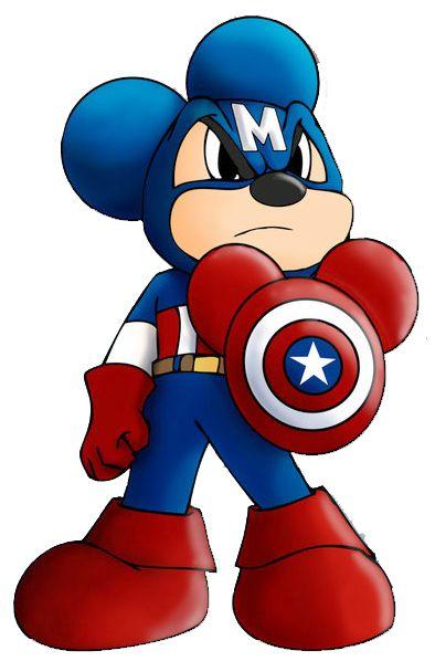 Mickey mouse capitan america