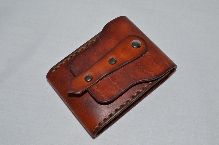 Leather Wallet-Men Wallet-Leather Card Holder Leather-Handmade Red brown. $35.00, via Etsy.-SR