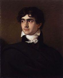 John William Polidori (1795 - 1821) by F.G. Gainsford -  écrivain italo-anglais. On lui attribue la paternité du vampirisme dans la littérature à la suite de sa nouvelle Le Vampire (The Vampyre), parue en 1819.
