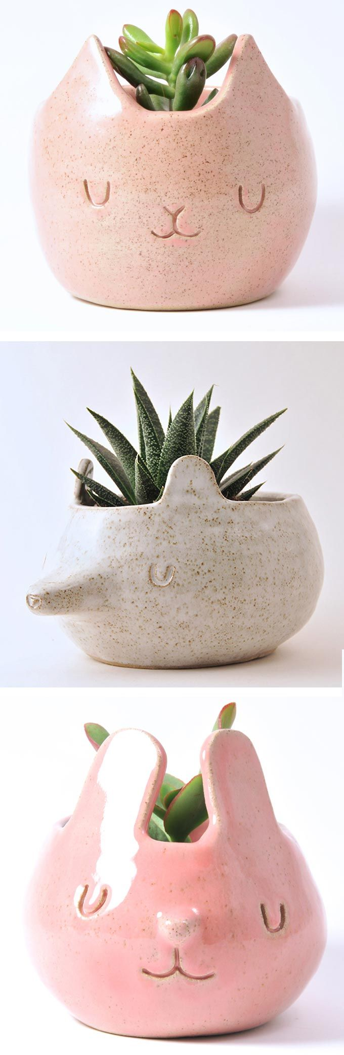 Design Forest Creates Adorable Ceramic Companions for Plants