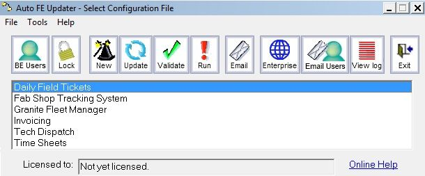 Front End deployment tool, see who is on the database at any given time...