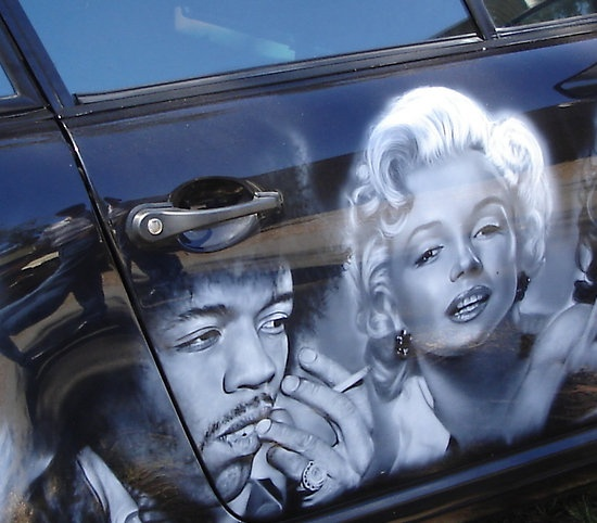 Airbrushed car by Sharon Stevens