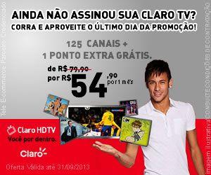 CLARO TV COM  MAIS DE 120 CANAIS A PARTI DE 54,90(NO DEBITO EM CONTA) DURANTE 6 MESES, FONES (84)8838-7311/9960-5012