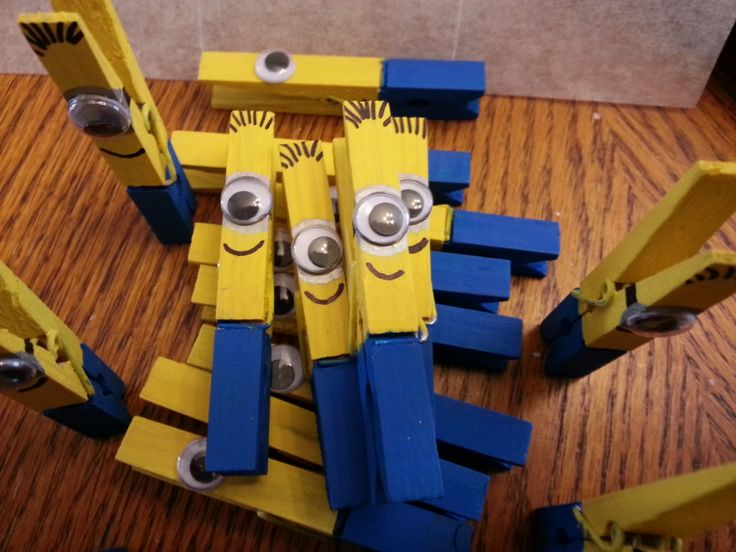 170 best images about joshua 3rd birthday on pinterest for Minion clothespins
