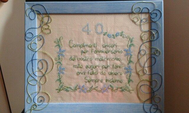 Cornici per 40 ani di matrimonio.