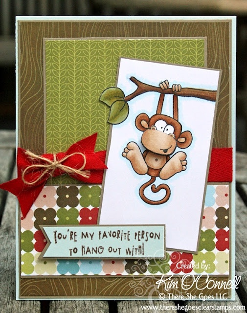"""Paper Perfect Designs by Kim O'Connell: There She Goes Clear Stamps """"Jungle Out There"""" stamp set"""
