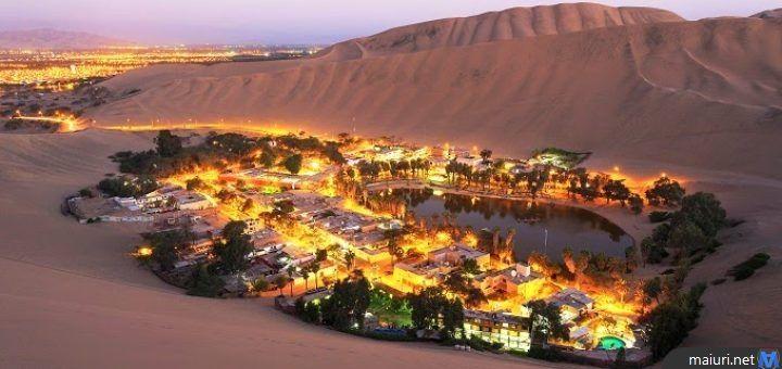 L'Oasi di Huacachina è una vera e propria oasi nel deserto in mezzo a dune di sabbia, si trova nel sud-ovest del Perù, nella provincia di Ica,