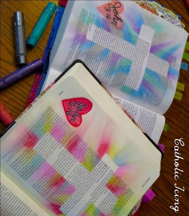 bible journaling- john 3 16