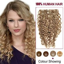 Golden Blonde Curly Clip In Brazilian Remy Hair ExtensionsClip Extensions Onsale Find Complete Extension Products From Here