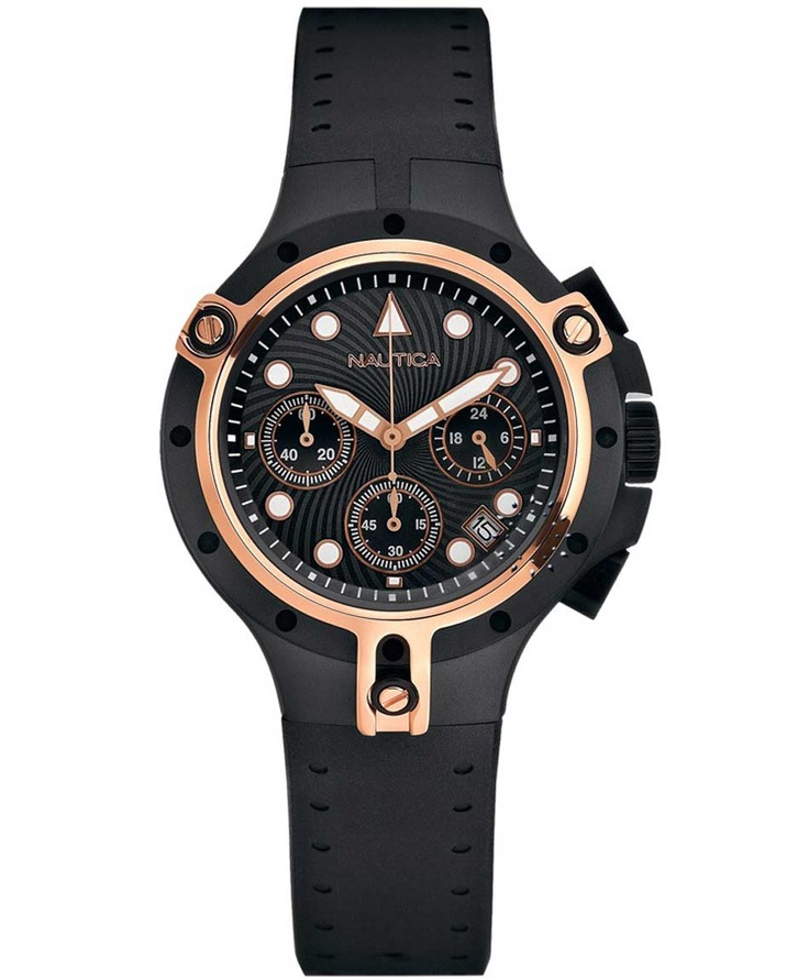 NAUTICA 100M Chronograph Black Rubber Strap Μοντέλο: A28506 Η τιμή μας: 289€ http://www.oroloi.gr/product_info.php?products_id=33548