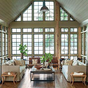 Panoramic Living Room Lake House In The Trees Lake House Decoratingdecorating Ideasdecor