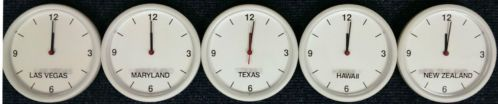 Customizable World Time Zone Wall Clock | eBay