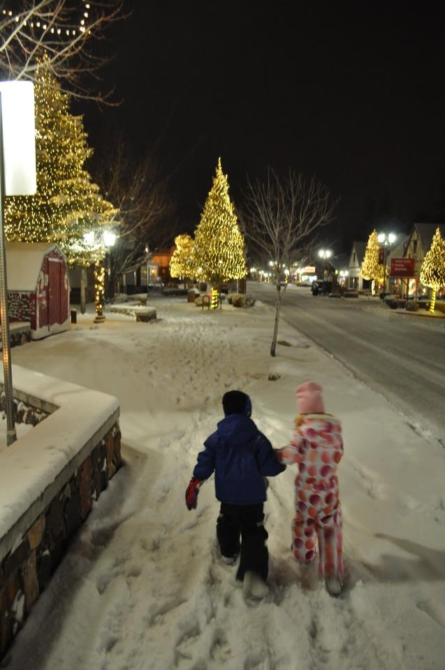 Christmas time in Big Bear Lake, California http://www ...