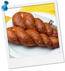 Disney Princes Tangled Party Food - braided pretzel bread recipe