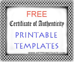 1000 ideas about free certificate templates on pinterest for Certificate of authenticity word template