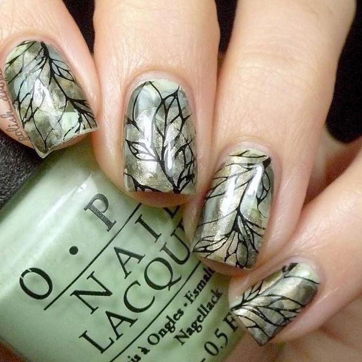 Soooo many thanks to @polish_drops created the amazing nails with our Nature Nail Plate! #ejiubas #nails #nailart #nailstagram #naildesign #nails2inspire #nailsoftheday #nailartaddict #nailartclub #nailpromote #stamping #stampingnailart #stampingnails #stampingplates #nailstamping #holidaynails #beauty