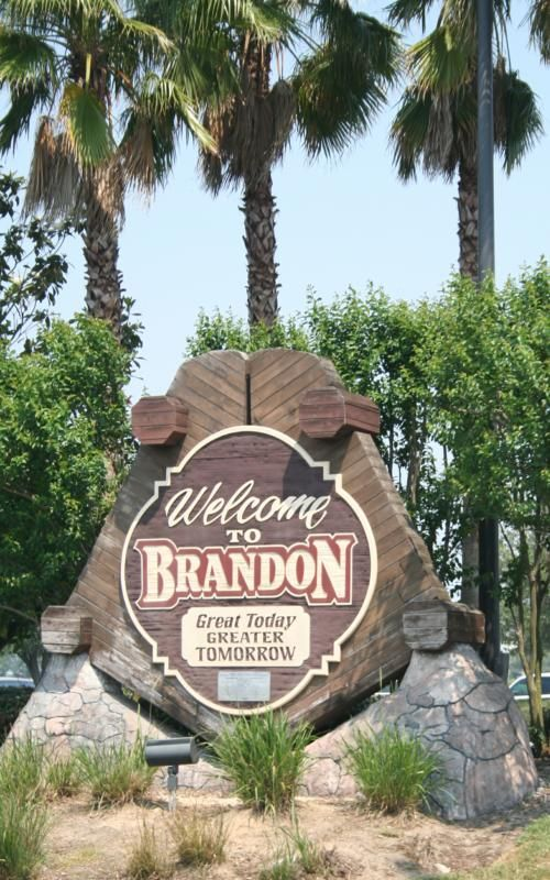 Brandon, Florida, Hillsborough County. Where my dad lives and also where my brother, sister, daughter and myself were all born. :)