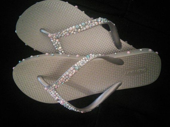 Check out this item in my Etsy shop https://www.etsy.com/listing/233683802/wedding-flip-flops-wedding-shoes-wedding