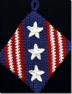 4th of July Potholder