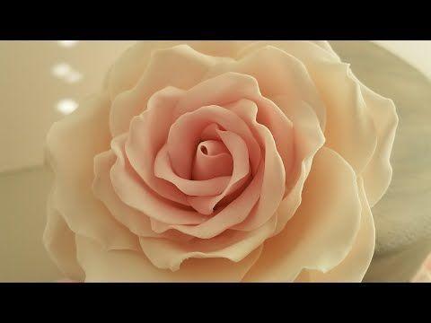 Como hacer rosas de fondant.  EL PARAISO DE LOS SABORES - YouTube