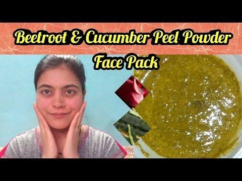 DIY Magical Face Pack / Rote Beete & Gurken Peeling Puder Gesichtspackung für alle Haut ….