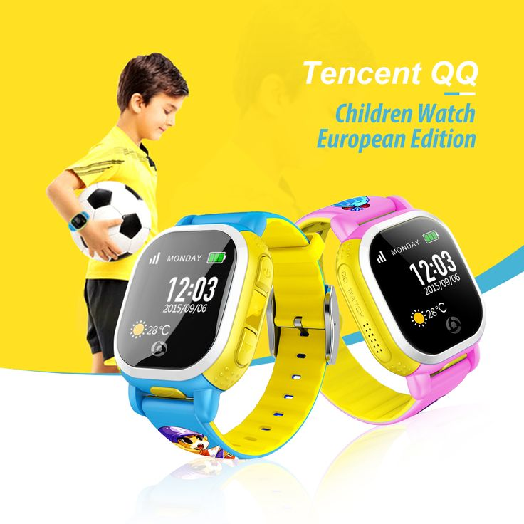 Tencent QQ European Edition Children Smart Watch WiFi GPS Watch Anti Lost Kids Smartwatch SIM LBS SOS Alarm for Android IOS //Price: $104.99      #followme