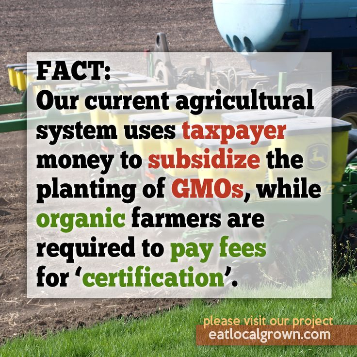 This needs to change.  Come on, organic farmers!  Lets stop the subsides..