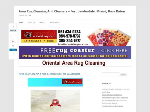 Area Rug Cleaning And Cleaners - Fort Lauderdale, Miami, Boca Raton