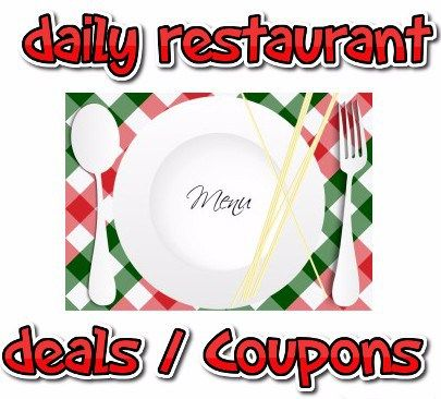 Restaurant Daily Deals and Coupons : Thursday 3/17 - http://couponsdowork.com/restaurant-coupons/daily-restaurant-deals-31716/