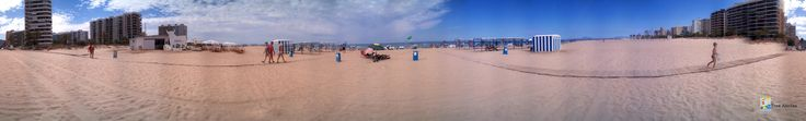 Fotografia 360º en la Playa de Gandia, al fondo el Hotel Tres Anclas