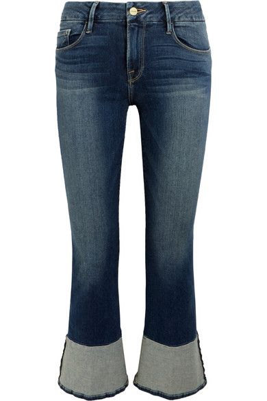 FRAME - Le Crop Mini Mid-rise Bootcut Jeans - Blue - 32